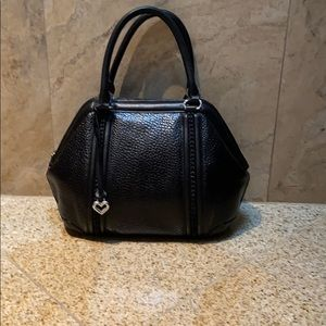 Brighton black, pebble leather handbag